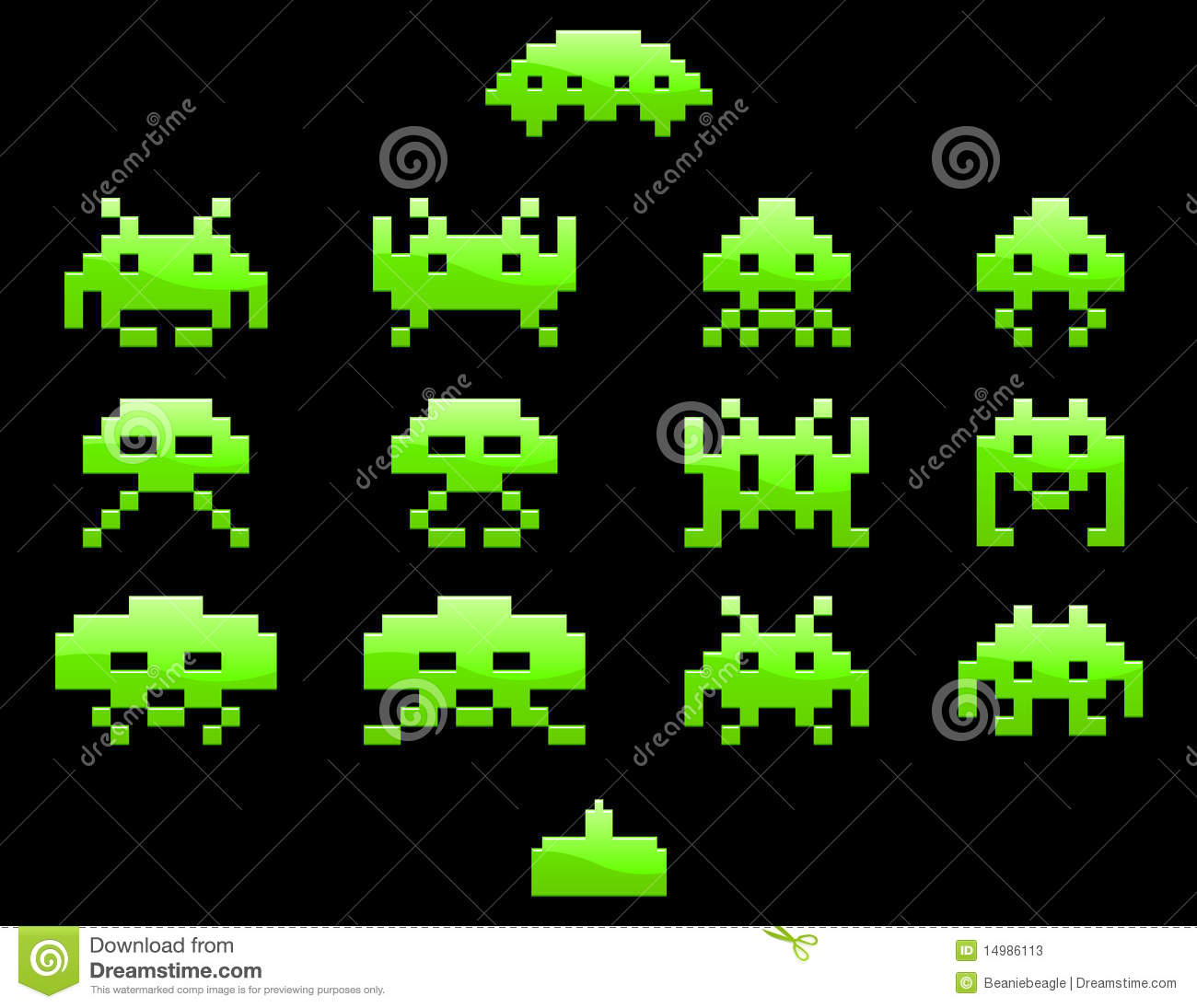 Vintage Map Iphone Wallpaper Space Invader Icons Eps Editorial Stock Photo Image
