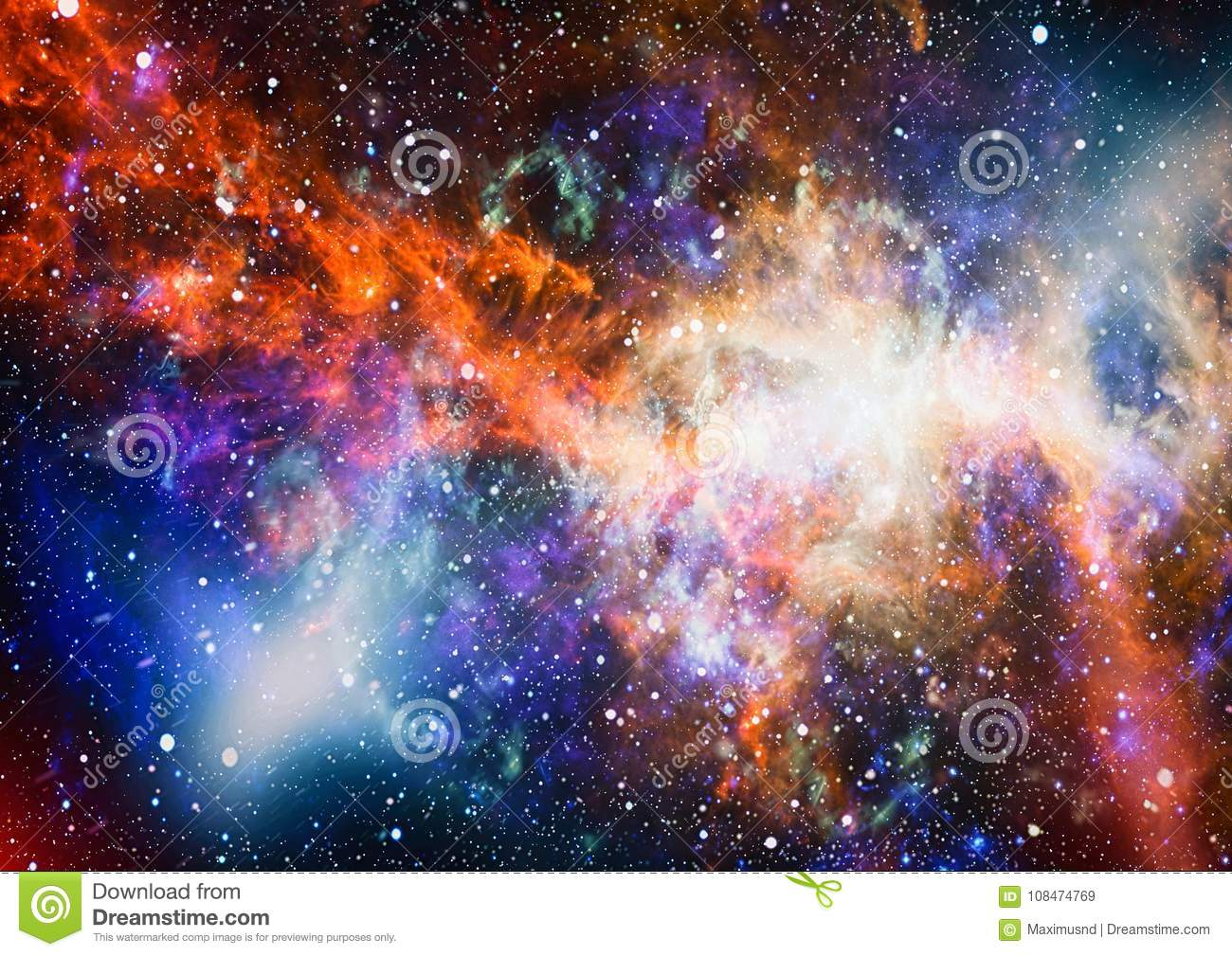 Star Field In Deep Space Many Light Years Far From The