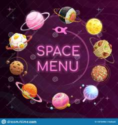 vector planets template space menu poster
