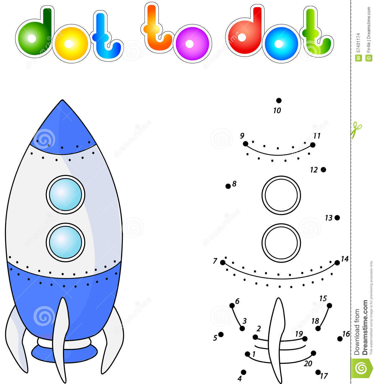 Spacecraft Or Aerospace Vehicle Connect Dots And Get