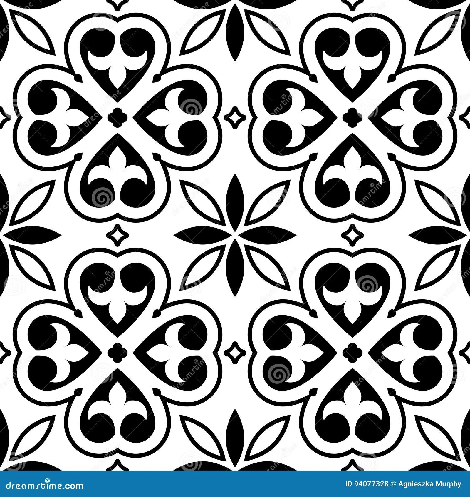 Spanish Tiles Pattern Moroccan Orportuguese Tile Seamless