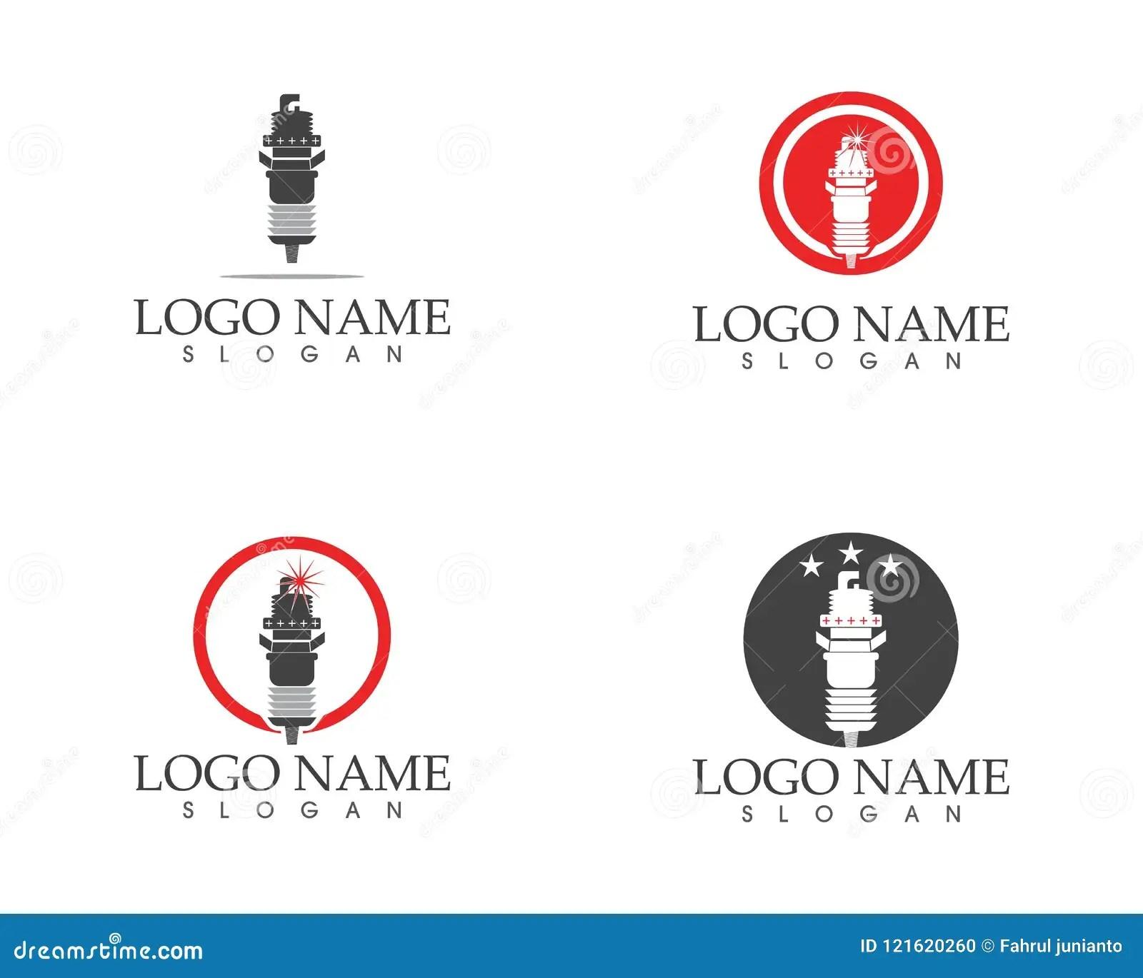 Spark Plug Icon Logo Vector Illustration Stock