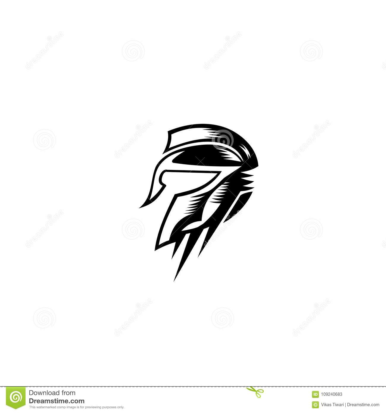 Roman Warrior Hand Draw Vector Illustration