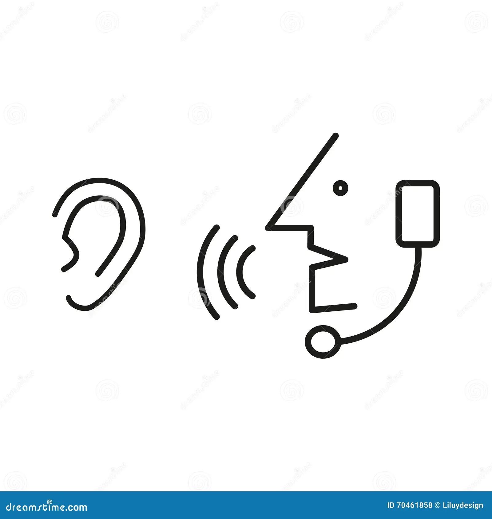 Speak And Listen Symbol Vector Illustration