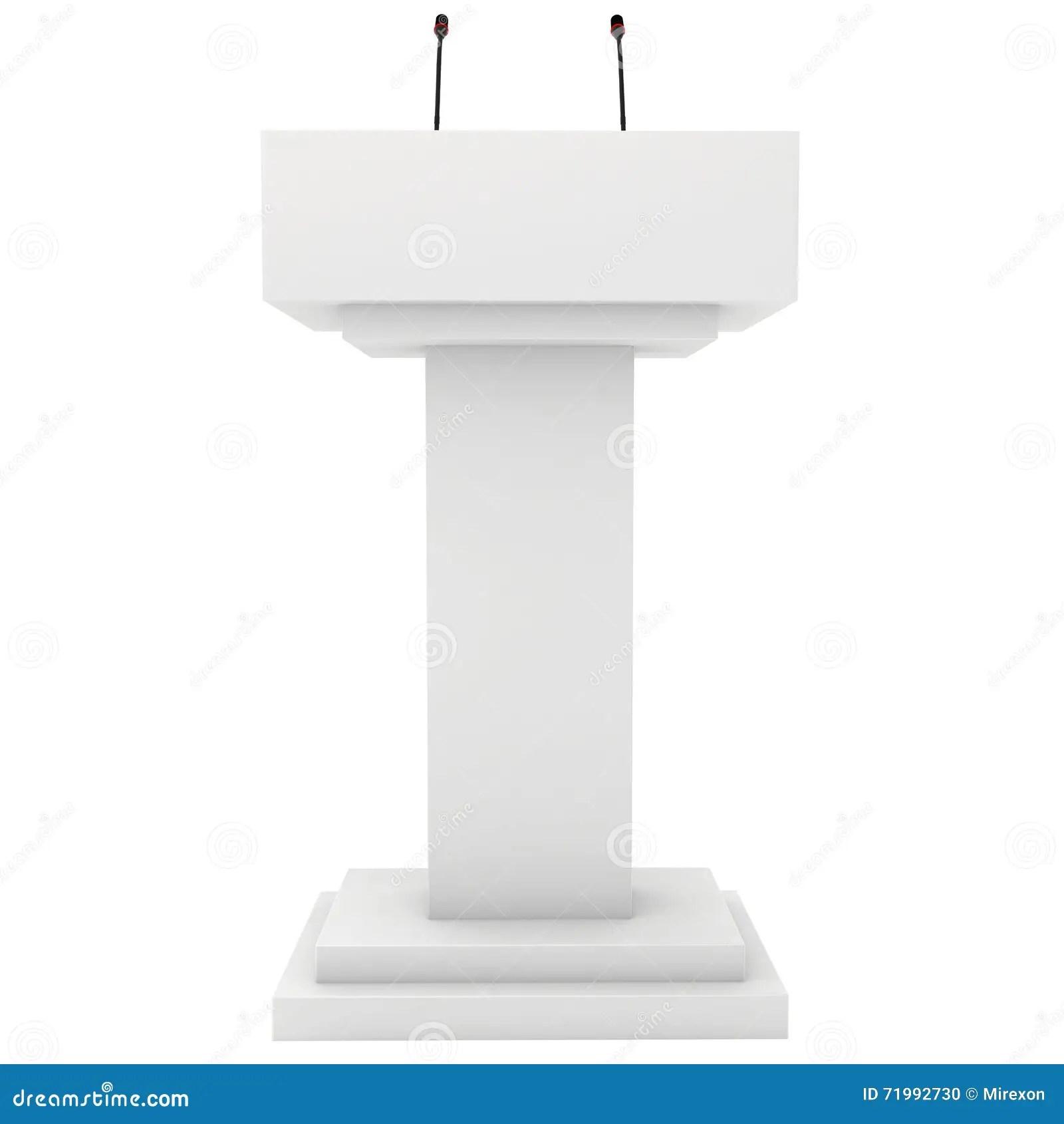 Speaker Podium Tribune Rostrum Stand With Microphones