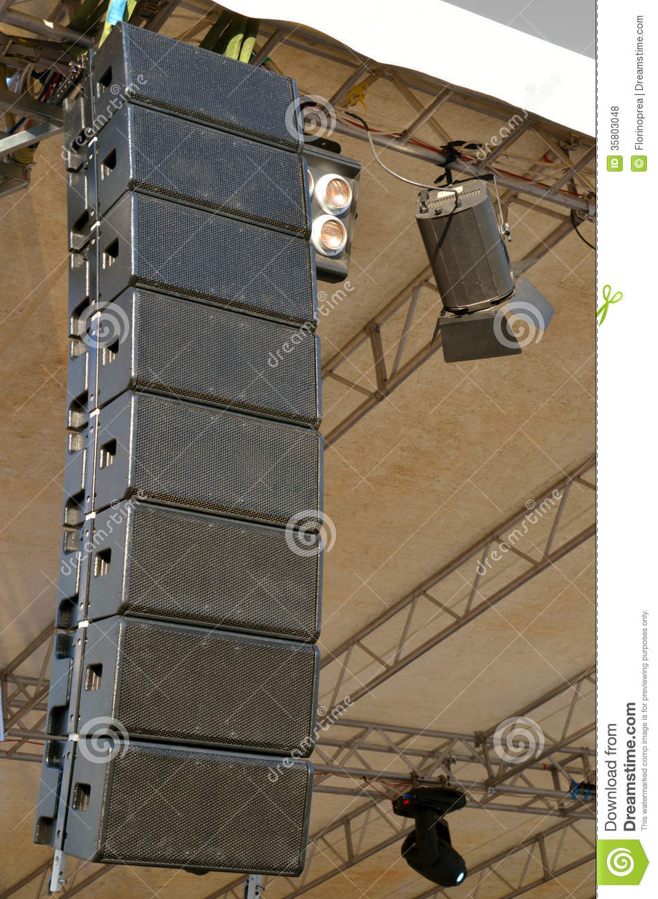 Speakers At Outdoors Concert Royalty Free Stock Photos  Image 35803048