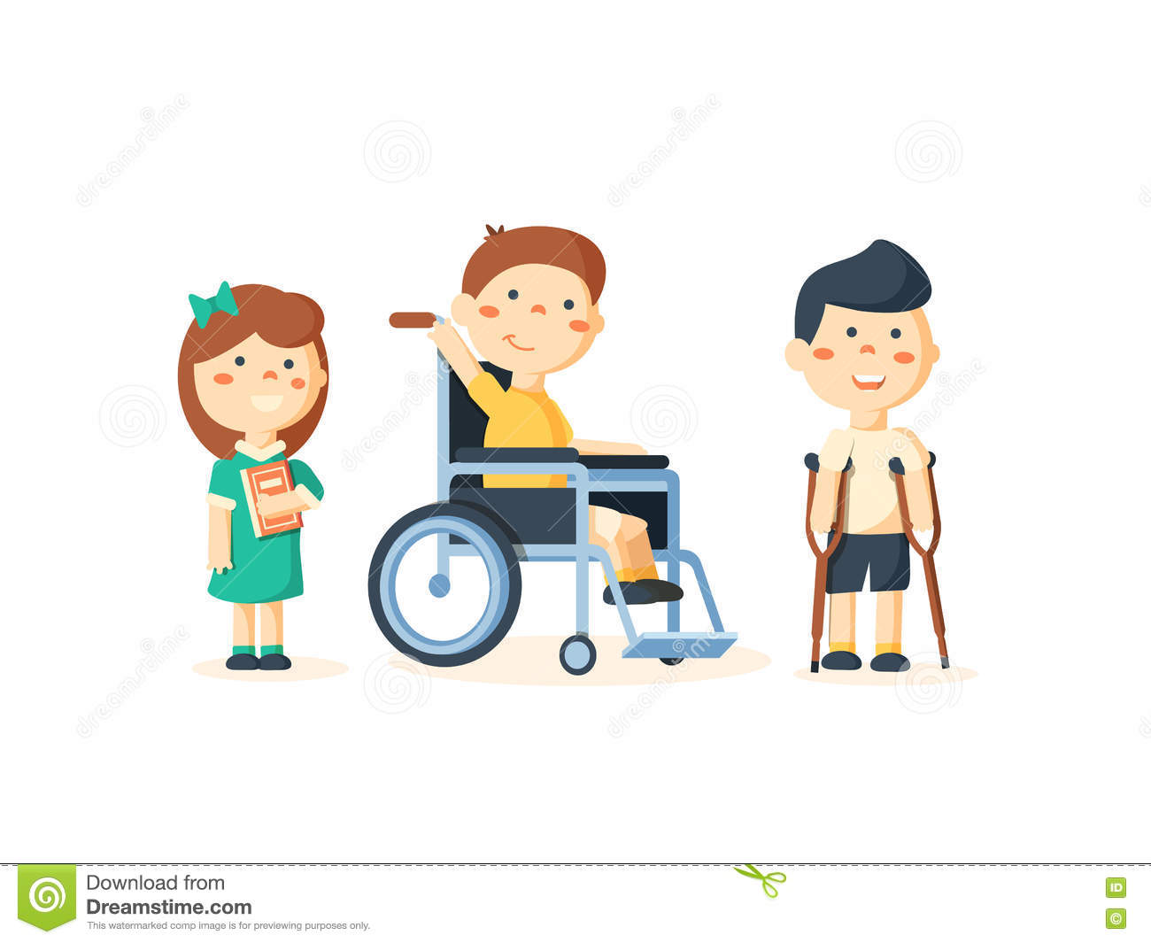 hight resolution of special needs children with friends