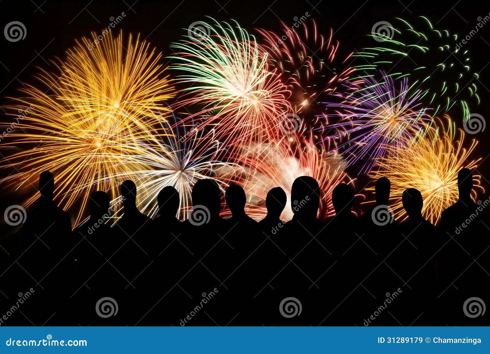 City Silhouette Fireworks