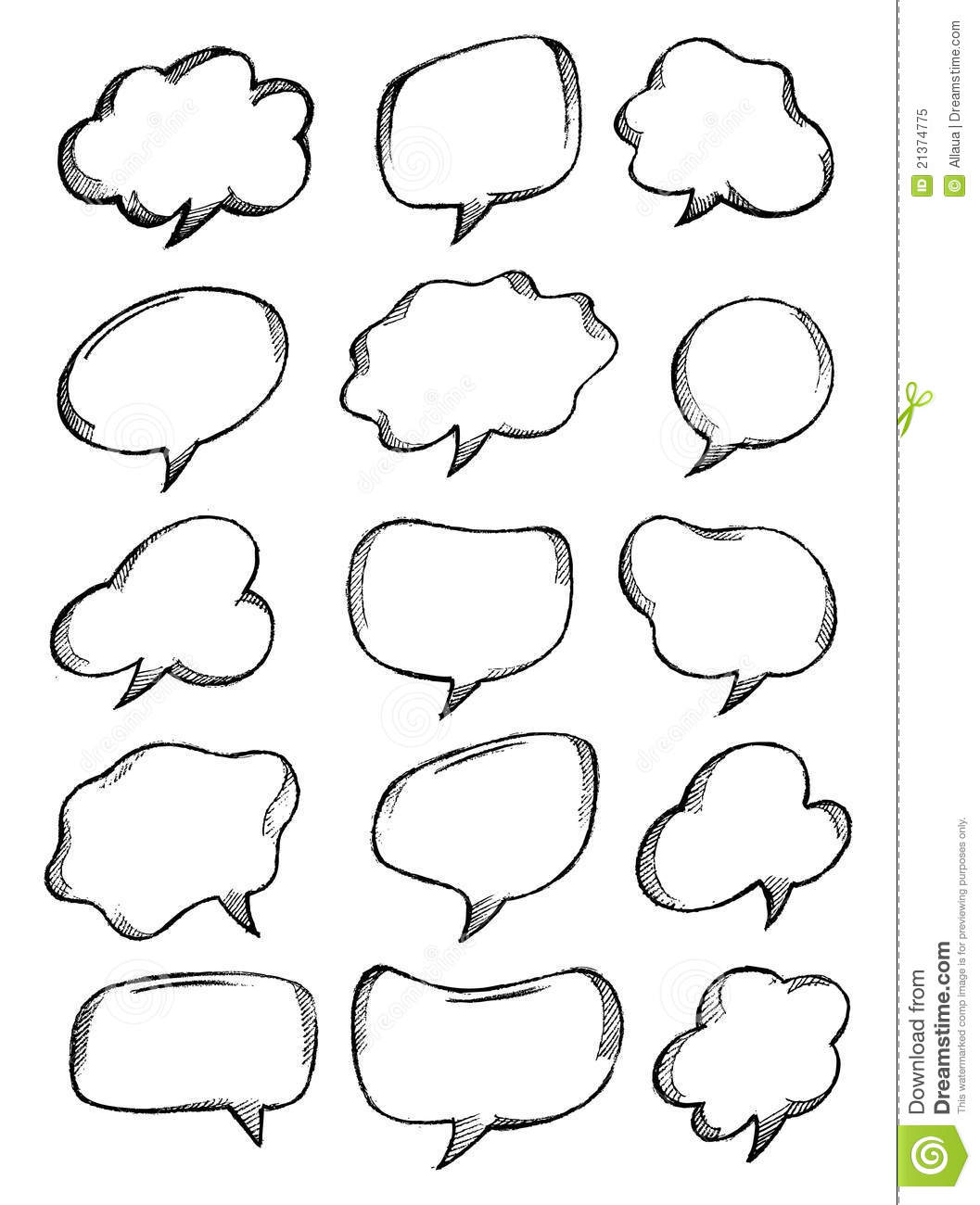 Speech Bubble Sketch Royalty Free Stock Photo