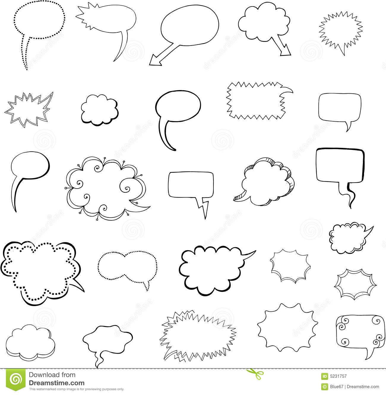 Speech Bubbles Vector Royalty Free Stock Photography