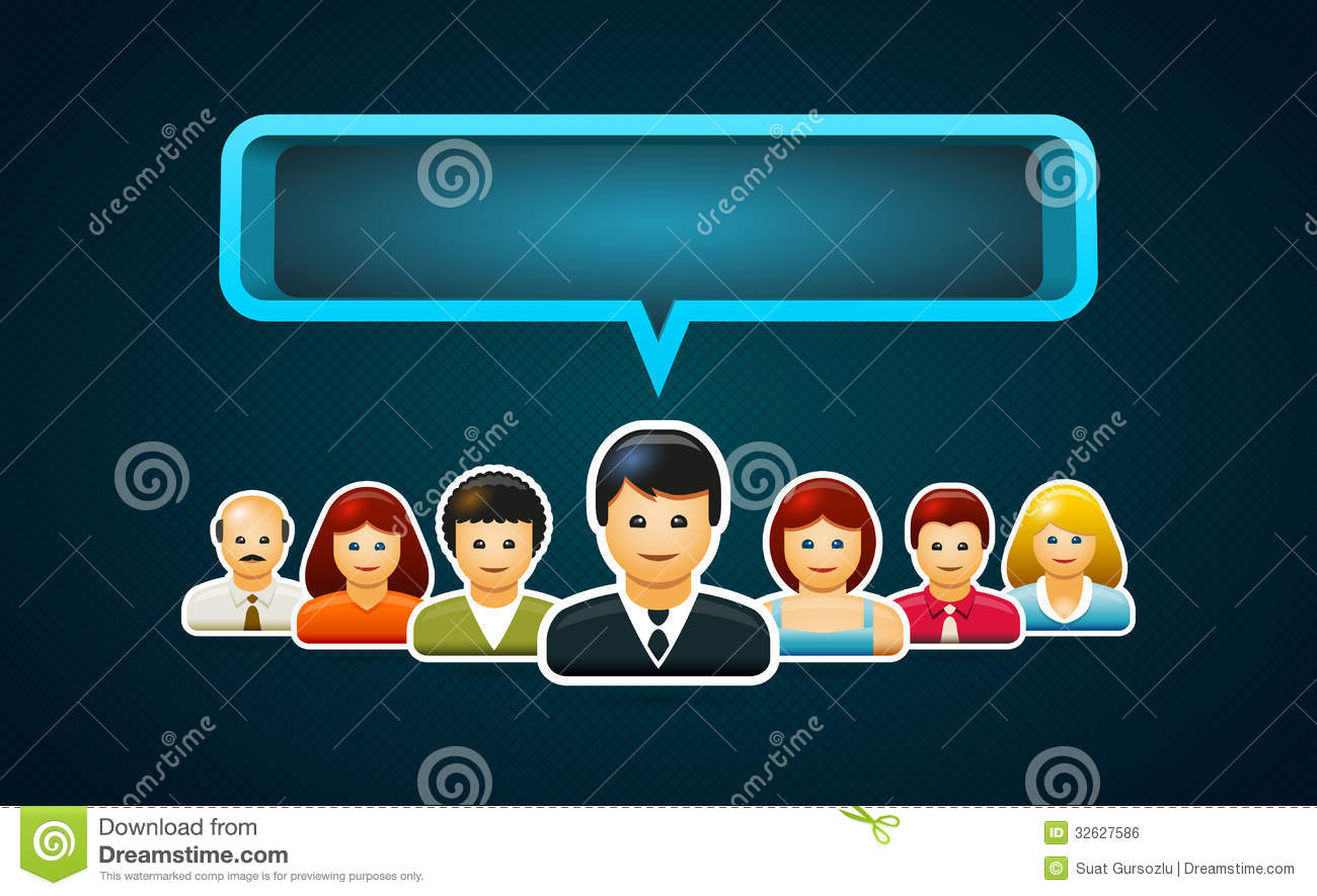 Speeching People Stock Vector Illustration Of Communication