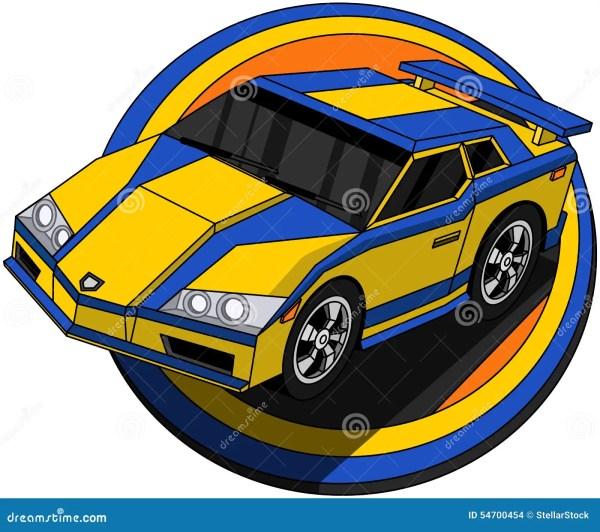 Speeding Cartoon Car Stock Vector Image 54700454