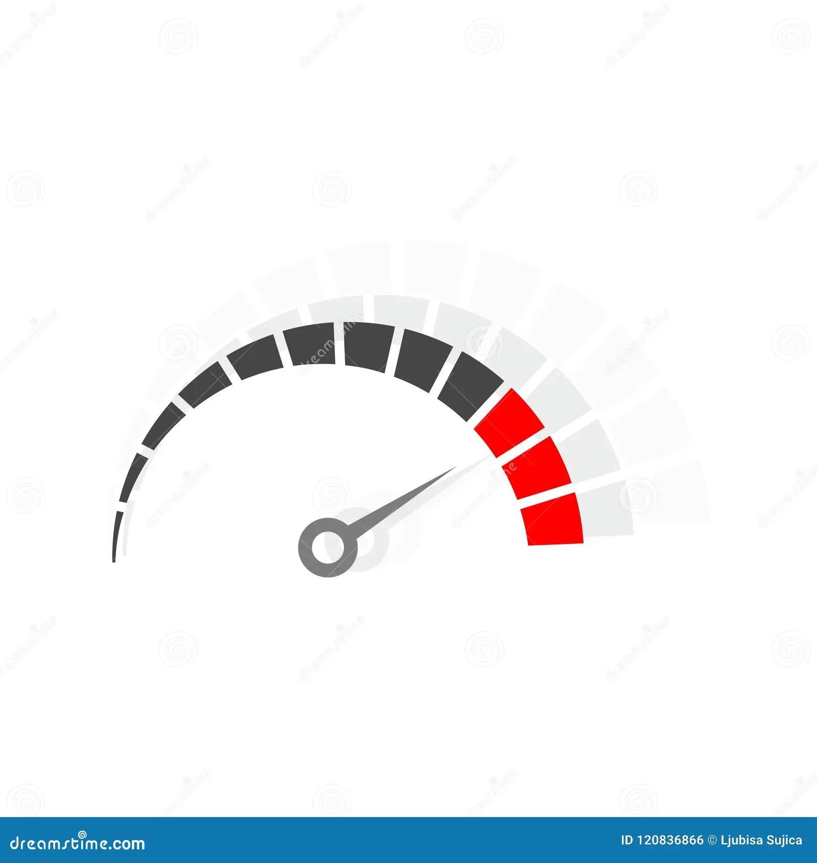 Speedometer Logo Speed Meter Vector Design Stock Vector