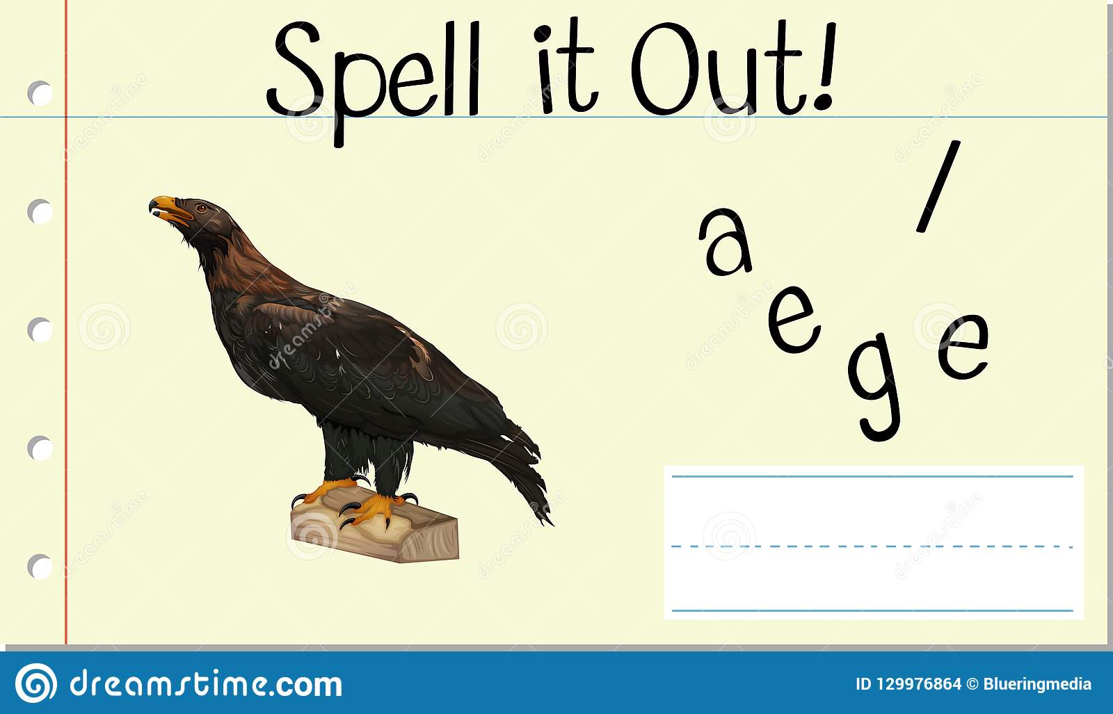 Spell English Word Eagle Stock Vector Illustration Of