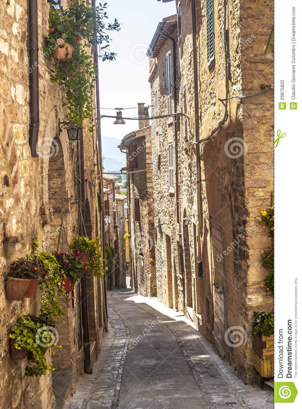 Spello Umbria Stock Photo  Image 29875820