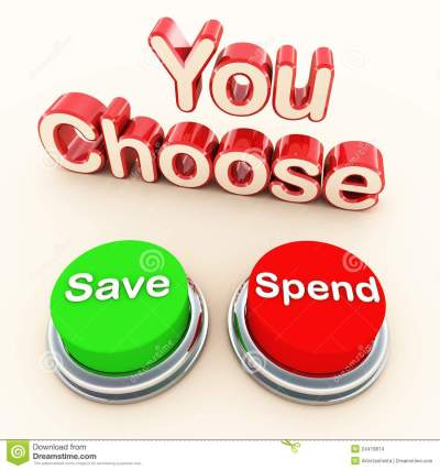 Spend or save choice stock illustration. Illustration of ...