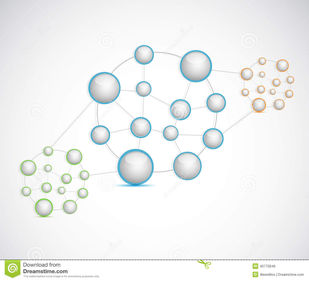 hight resolution of sphere network diagram illustration