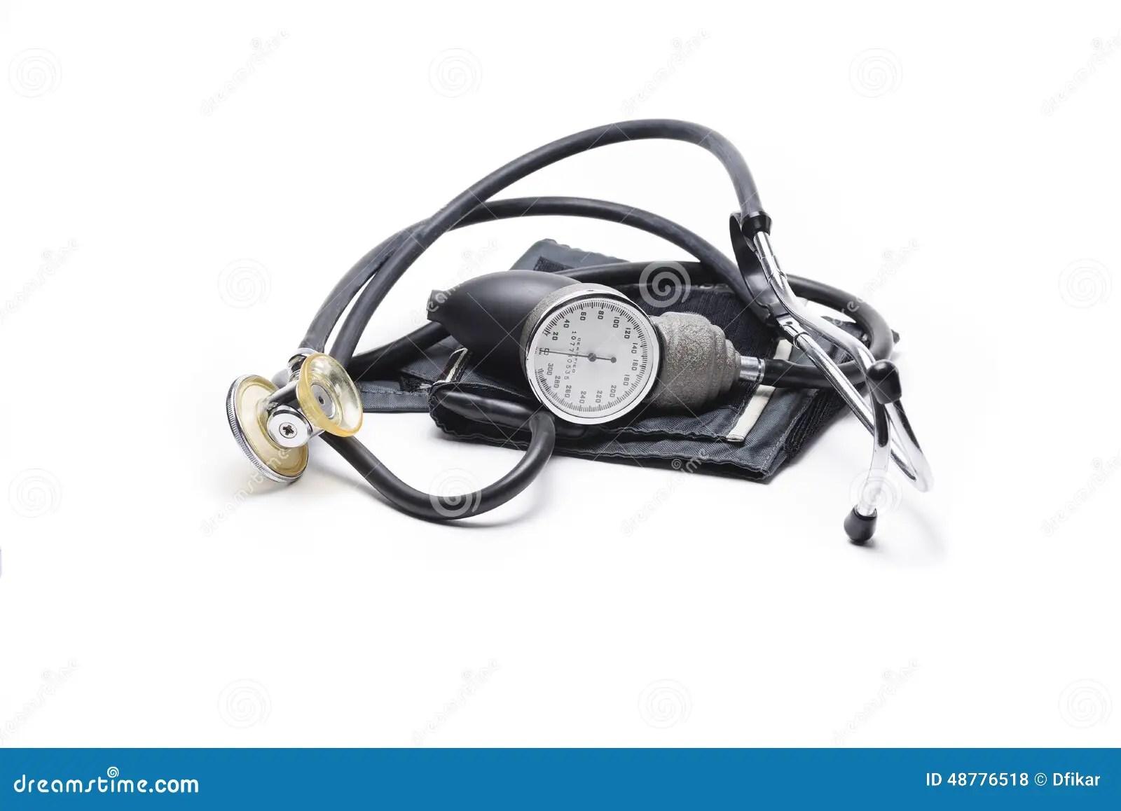 Sphygmomanometer And Stethoscope Stock Photo