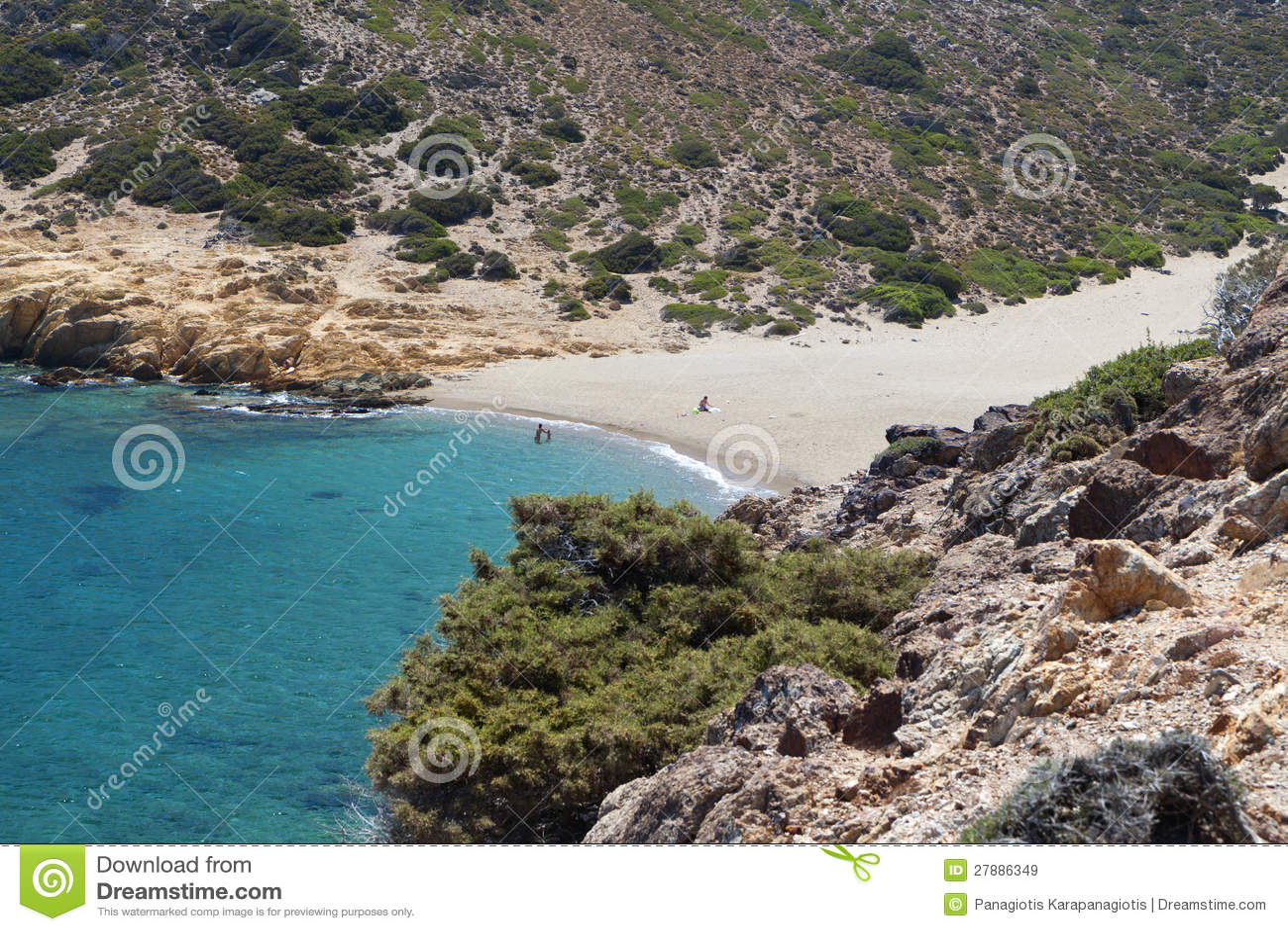 Spiaggia Di Vai Allisola Del Crete Grecia Immagine Stock