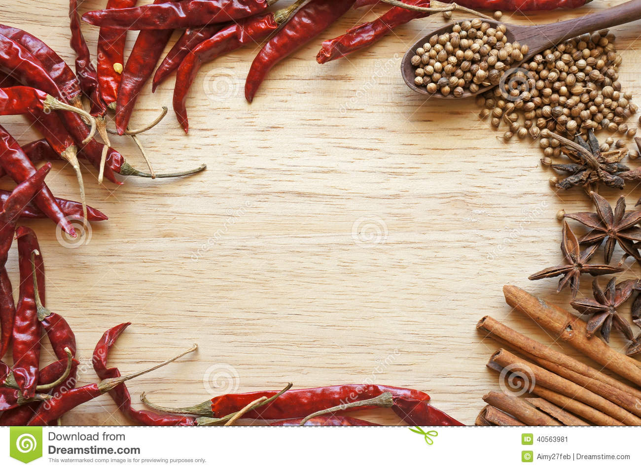 Spices And Herbs Frame Stock Photo  Image 40563981