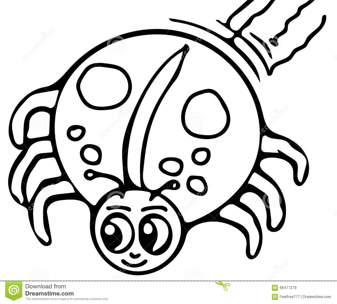 Royalty Free Stock Images: Spider coloring pages. Image