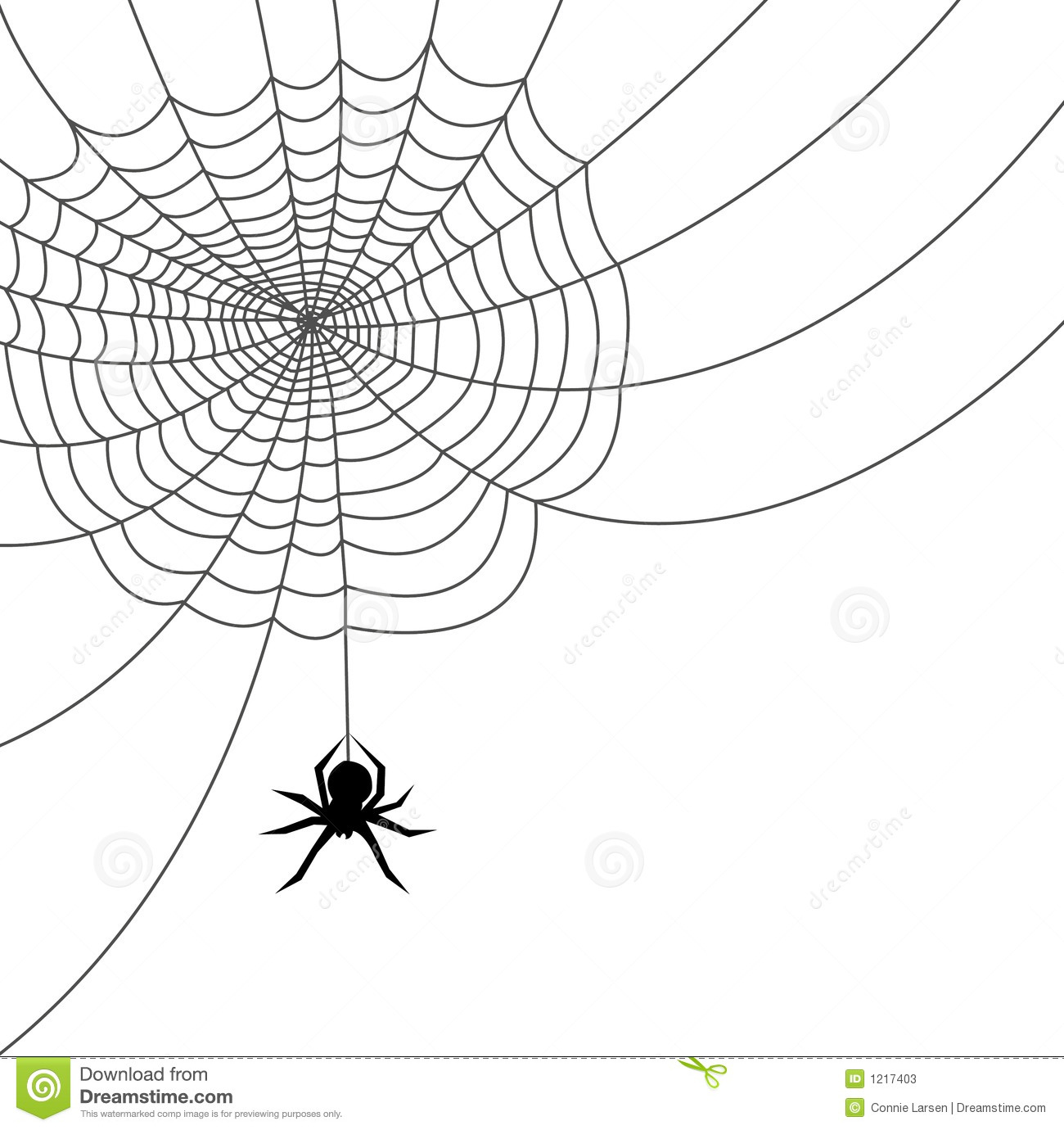 Spider Web Ai File Stock Vector Illustration Of
