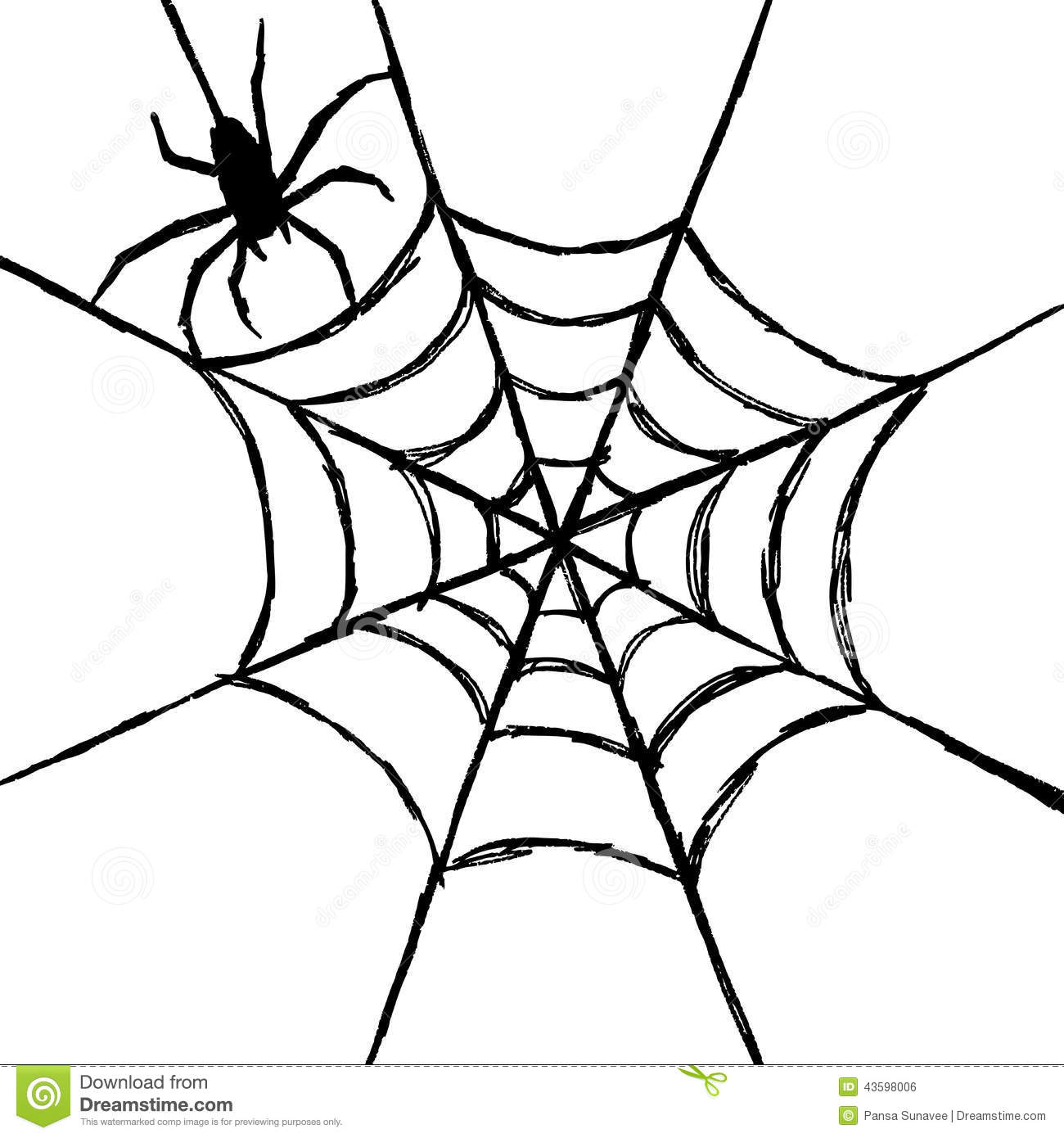 Spider And Web Stock Vector Illustration Of Halloween