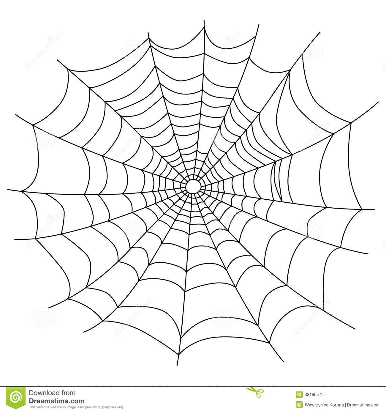 Spider Web Isolated On White Royalty Free Stock Images