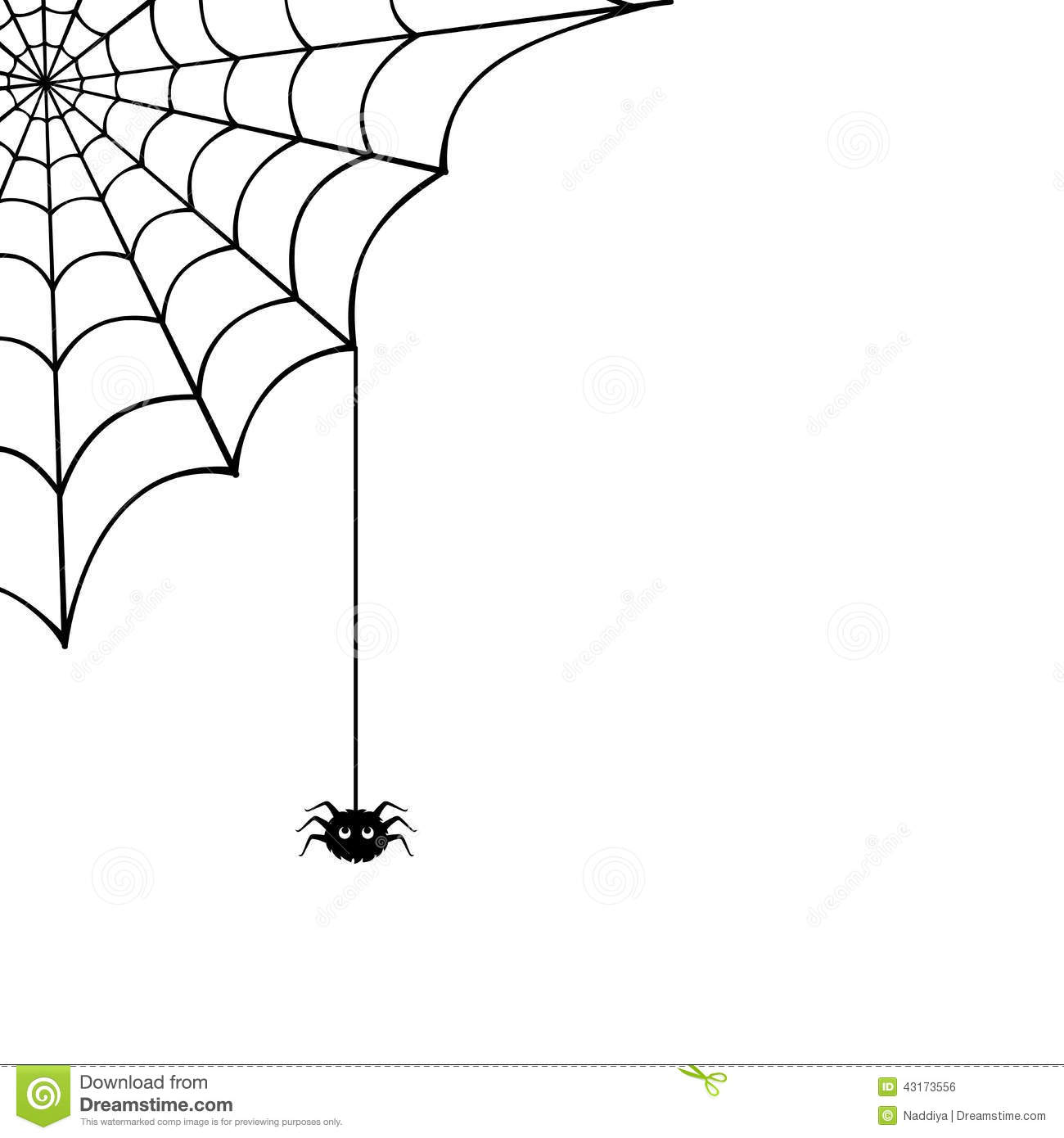 Spider Web And Spider. Vector Illustration. Stock Vector