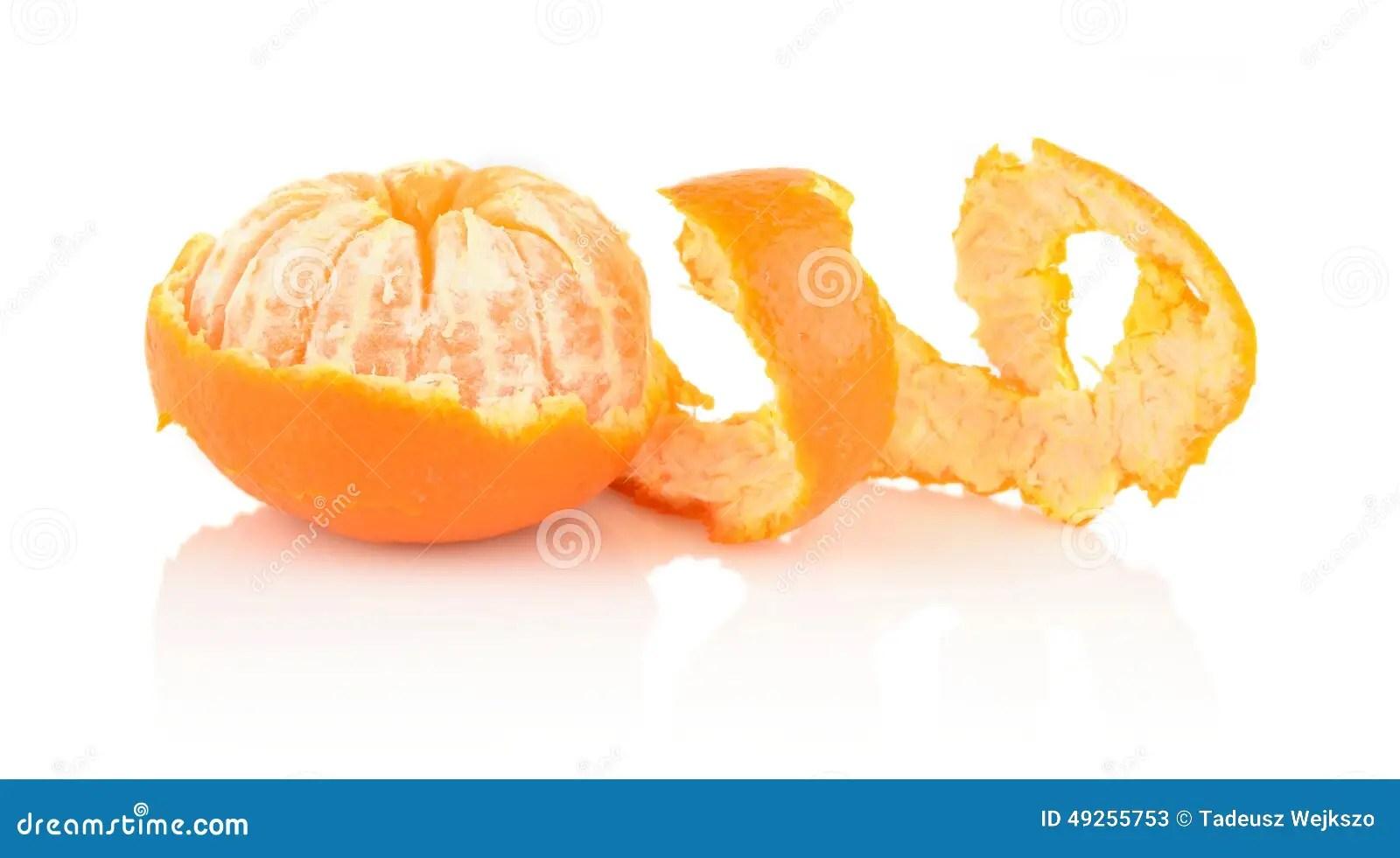 Spiral Peel Of Mandarin On White Stock Image - Image of orange. breakfast: 49255753