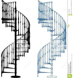 spiral staircase isolated on white vector [ 1184 x 1300 Pixel ]