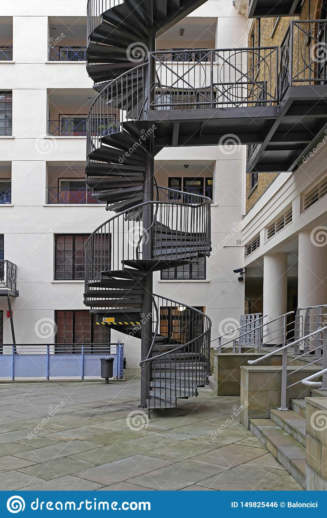 Spiral Staircase Stock Photo Image Of Steps Emergency 149825446