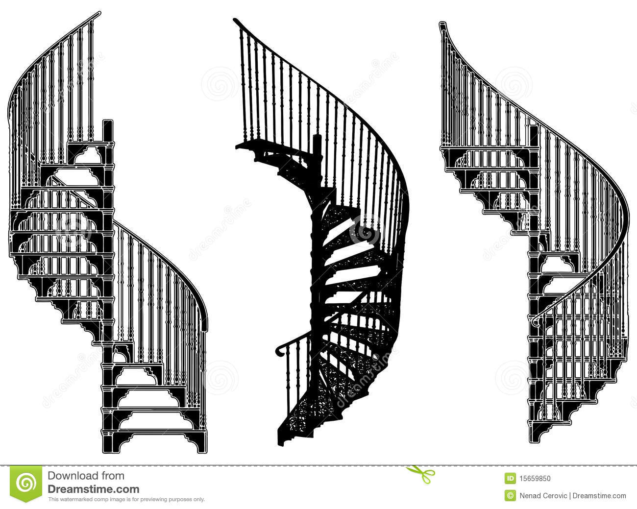 Spiral Staircase Vector 05 Stock Vector Illustration Of