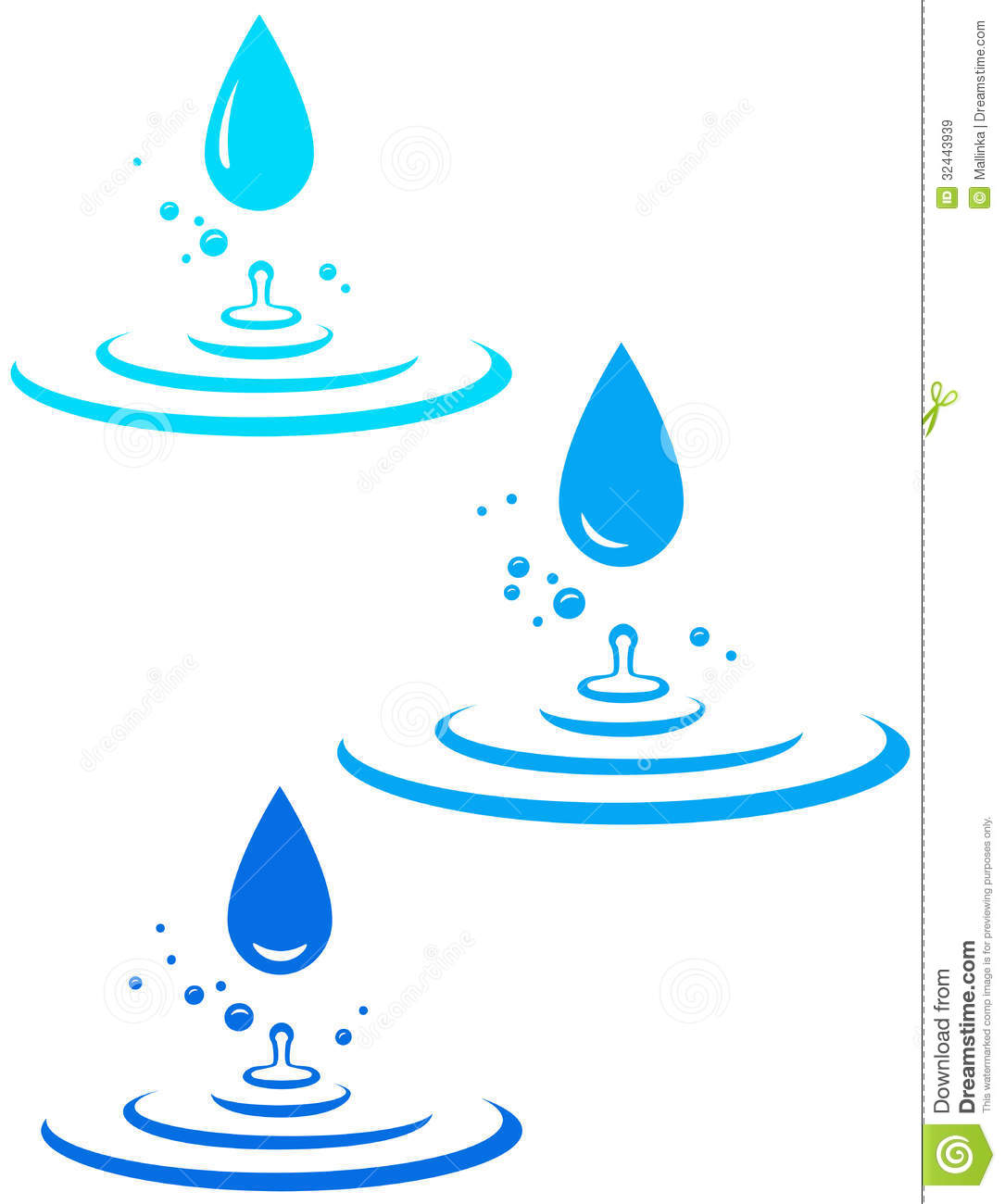 hight resolution of splash with many water drops