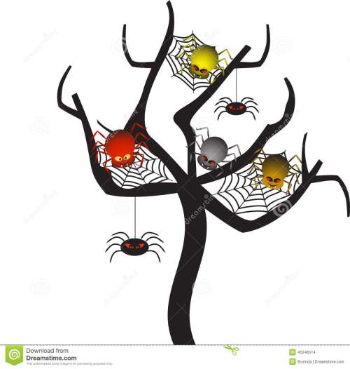 small resolution of spooky spider webs tree tree vector