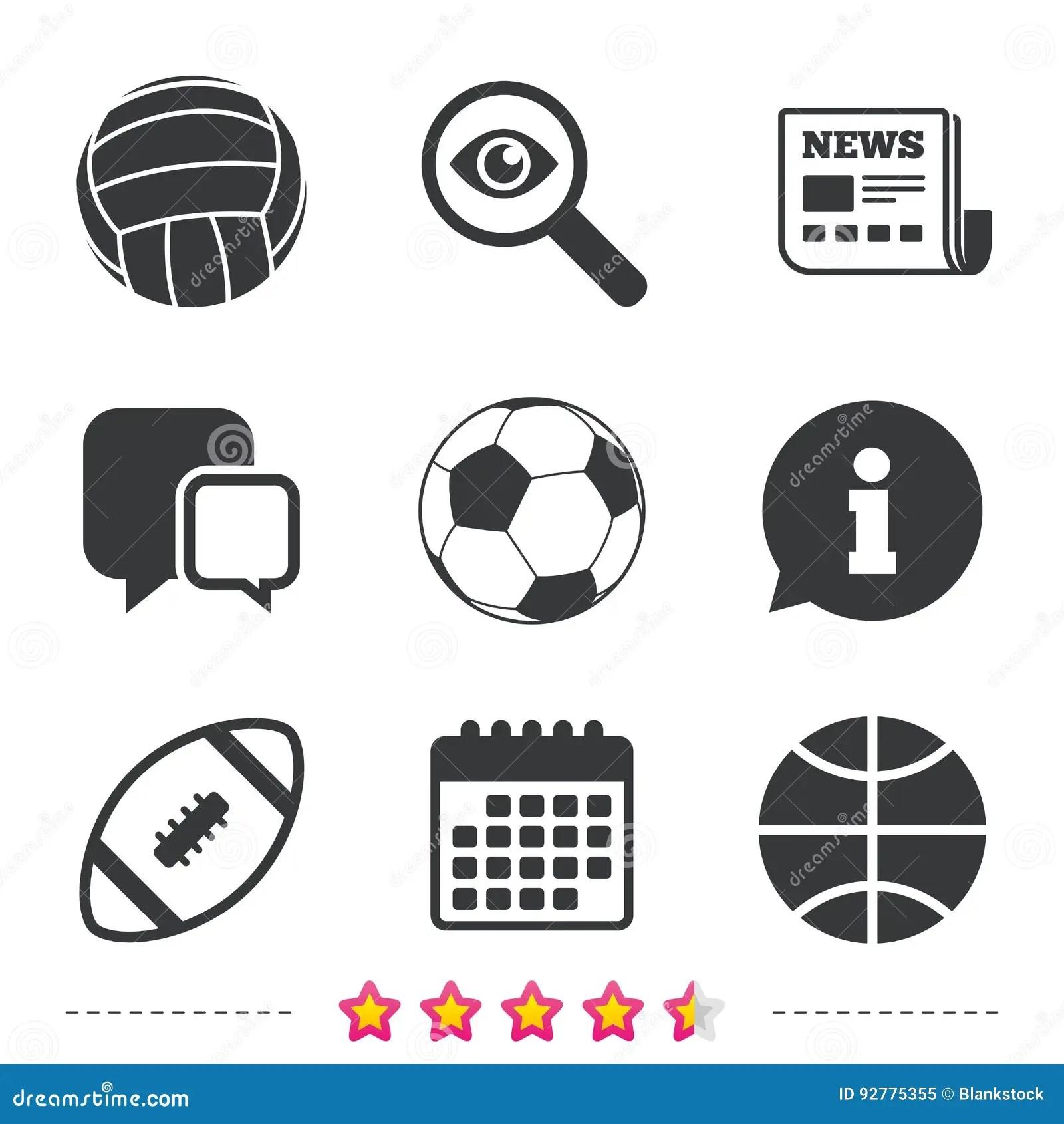 Sport Balls. Volleyball, Basketball, Soccer. Cartoon