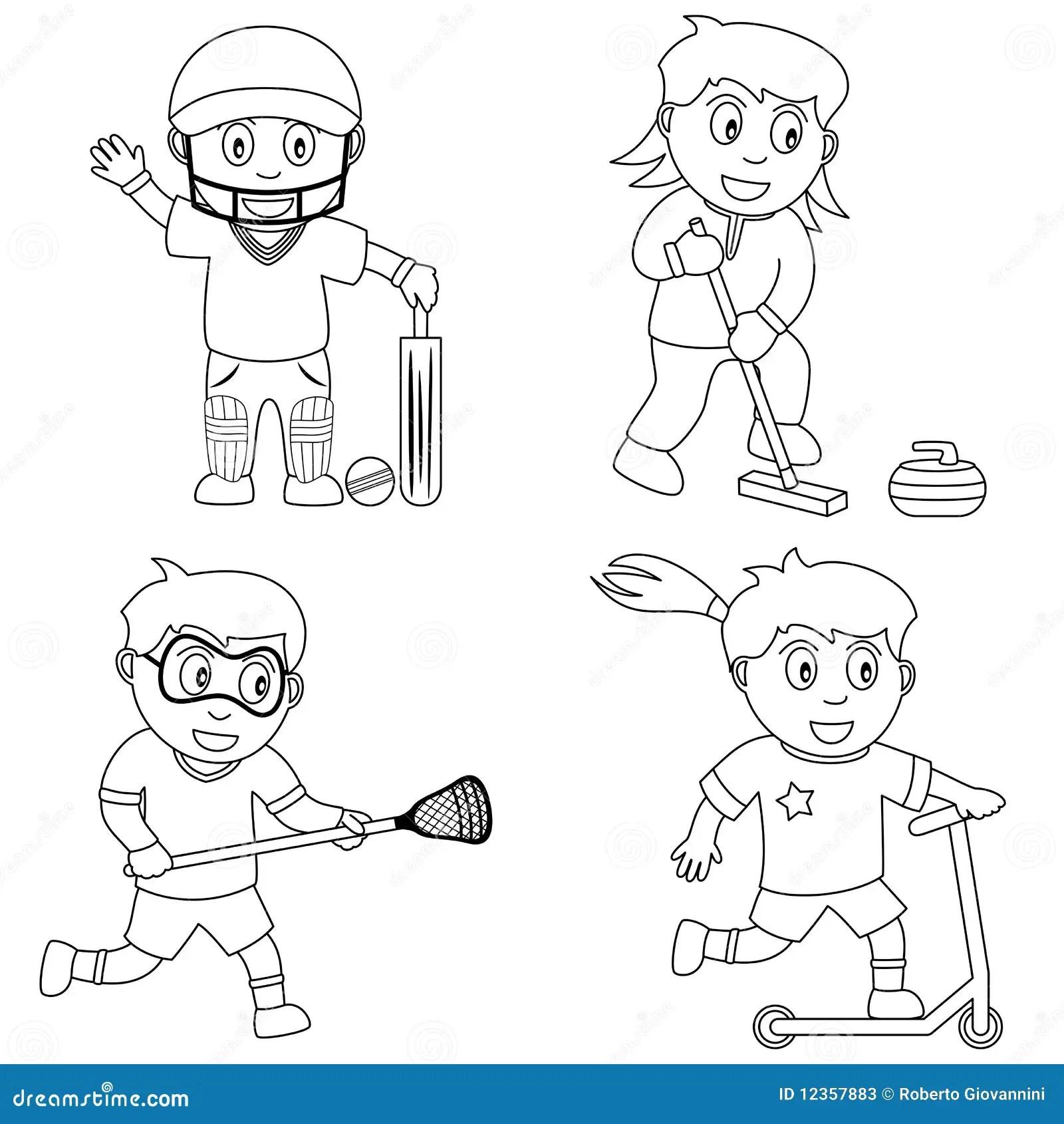 Sport De Coloration Pour Les Gosses 6 Illustration De