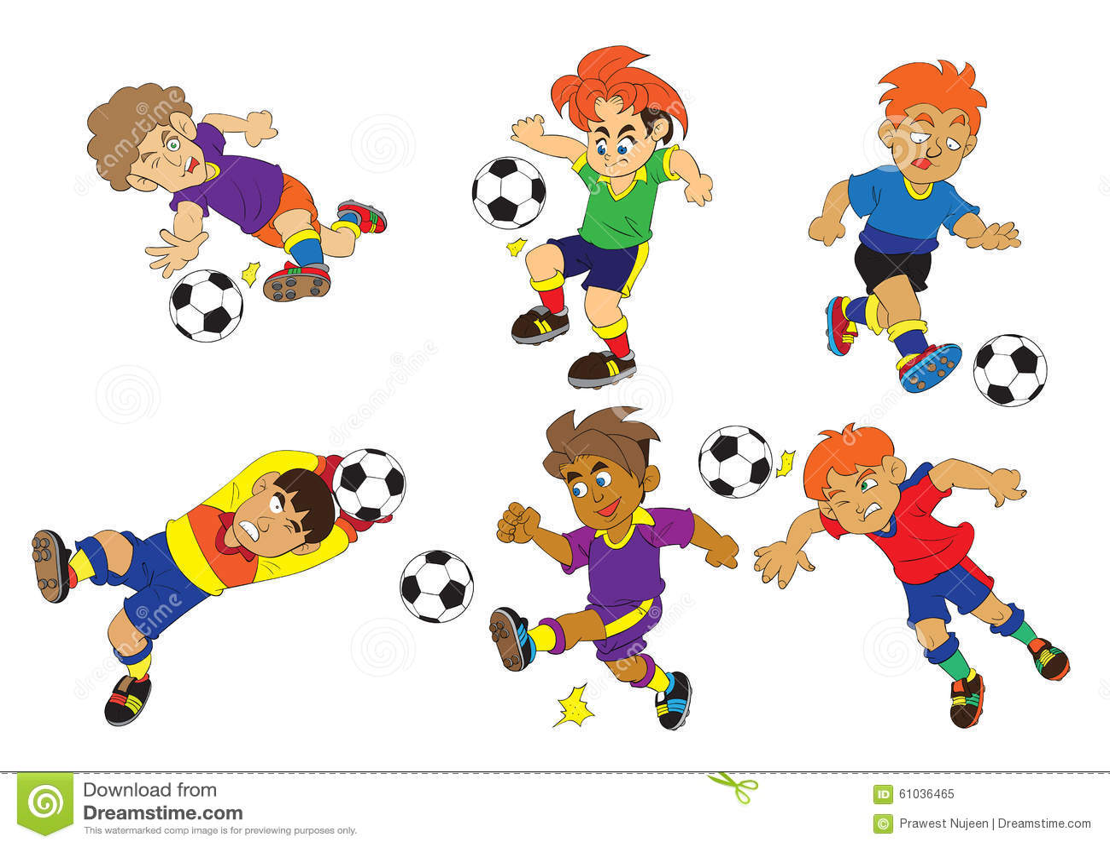 Sport Football Cartoon Vector Stock Vector - Illustration of illustration. people: 61036465