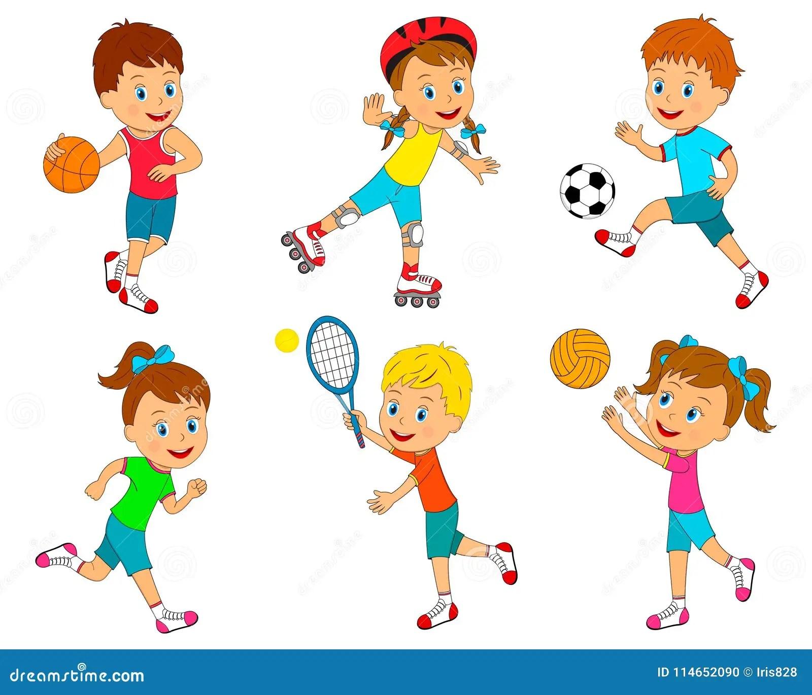 Sport For Kids Stock Vector Illustration Of Summer