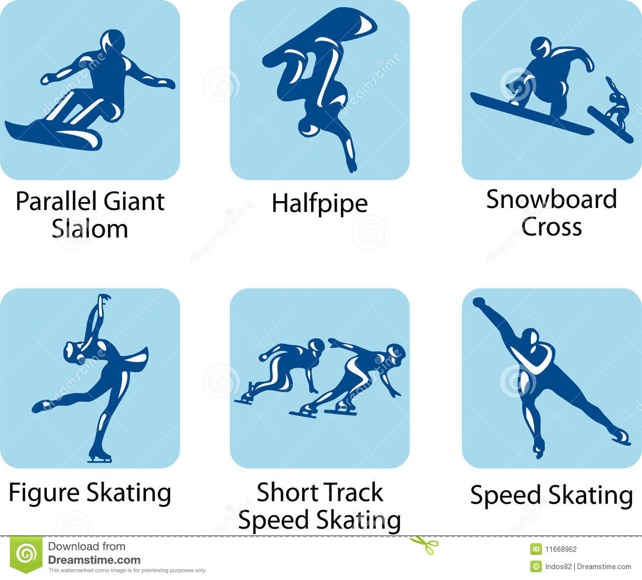 Sport Pictograms Stock Photography