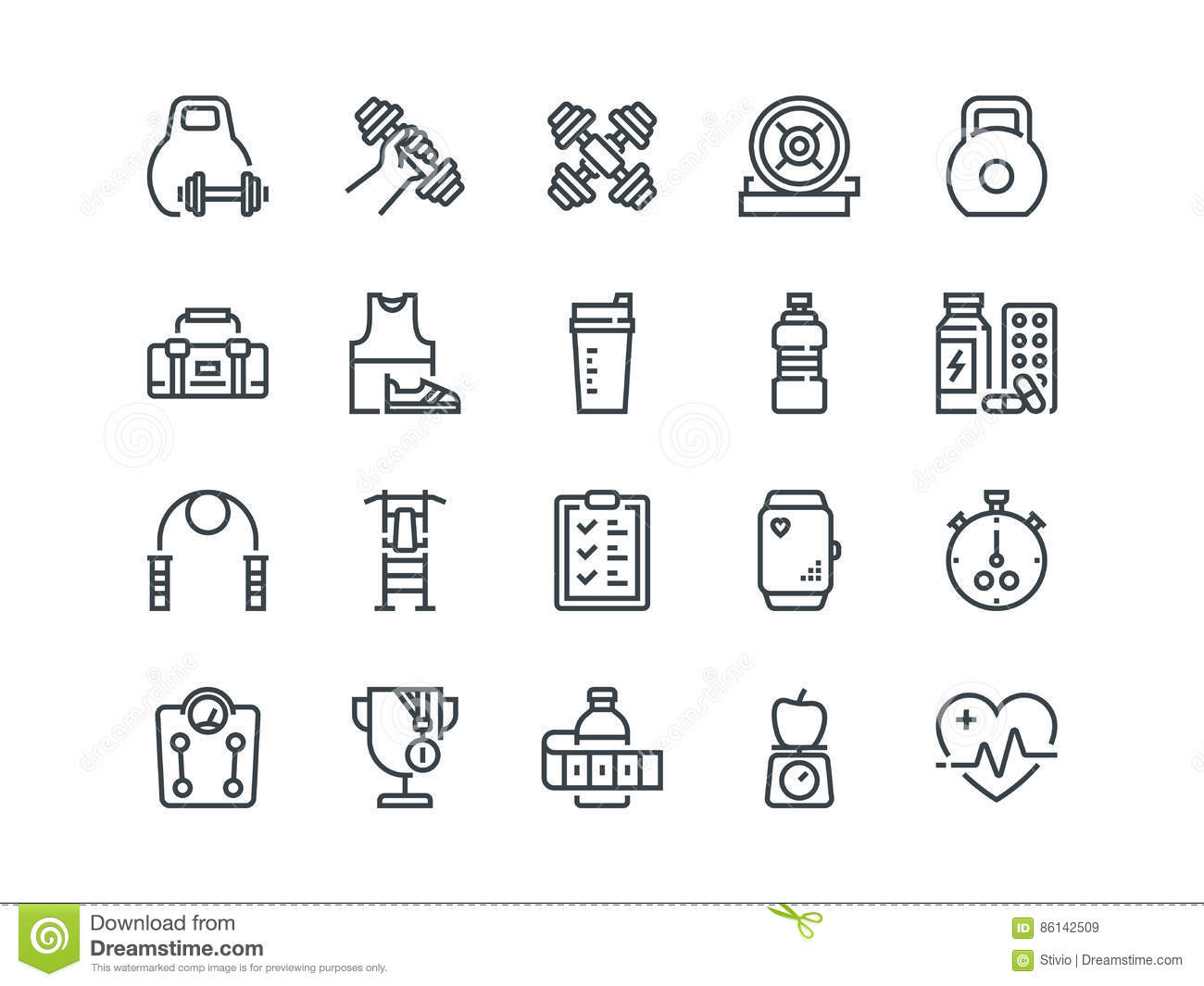 Sport Set Of Outline Vector Icons Includes Such As
