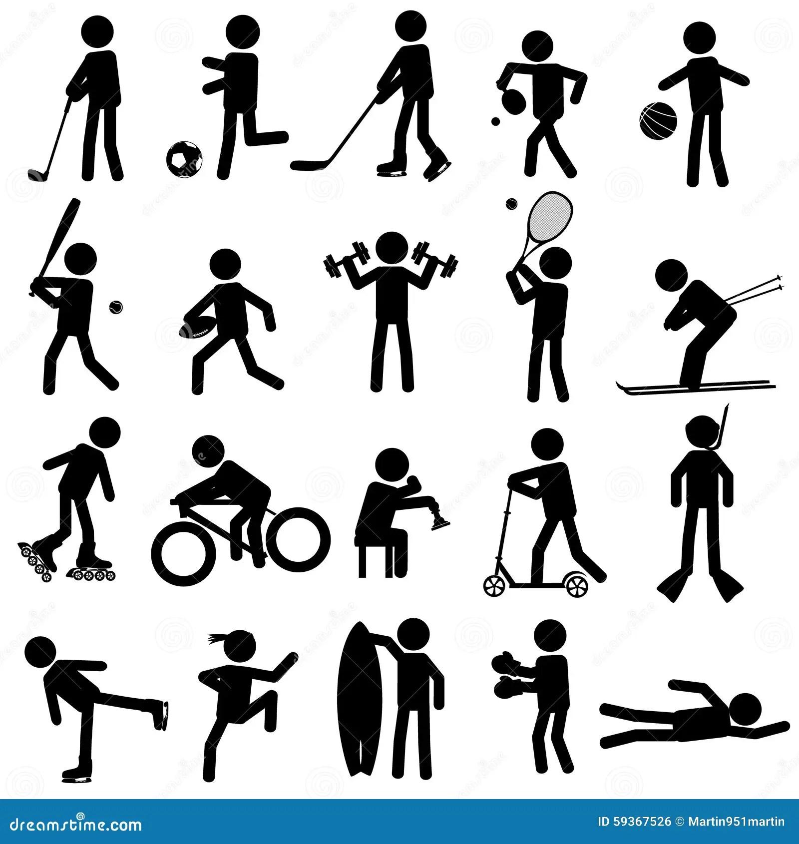 Sport Silhouettes Stock Illustration Illustration Of Pong
