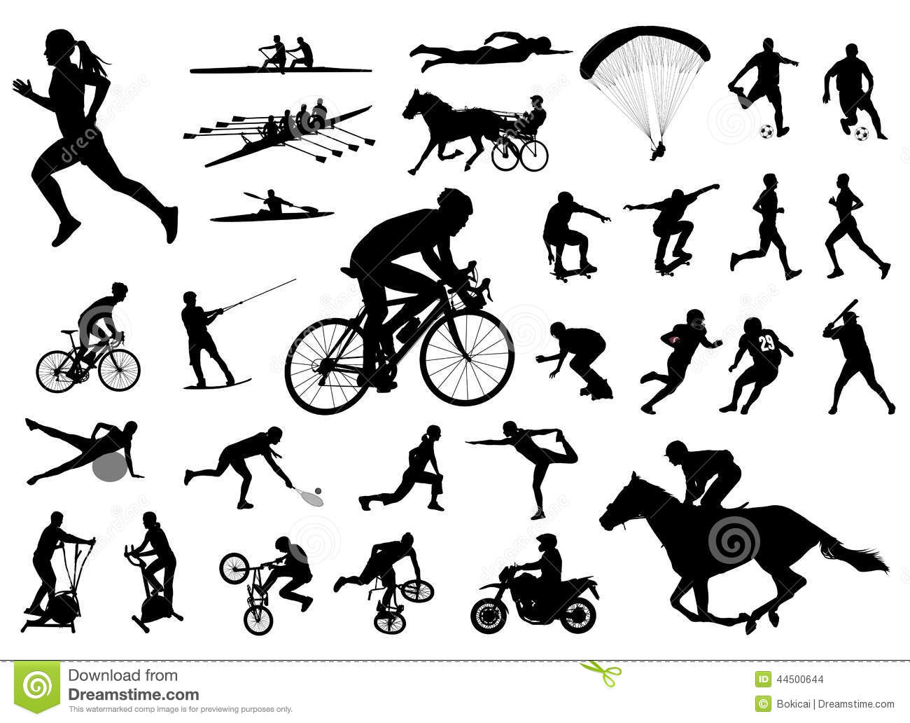 Sport Silhouettes Collection Stock Vector