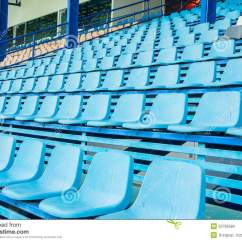 Stadium Chair For Bleachers Seat Covers Chairs With Arms Sport On Stock Photo Image Of Event Blue