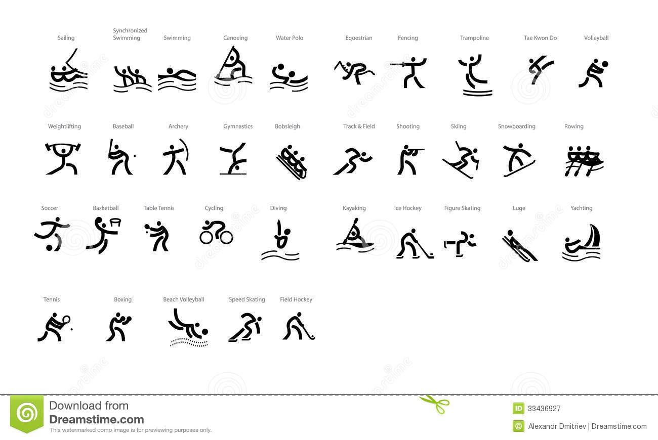 Sport Vector Icons Olympyc Games Stock Vector Illustration Of Speed Skiing 33436927
