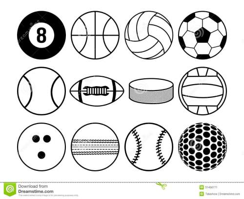 small resolution of sport clipart black and white