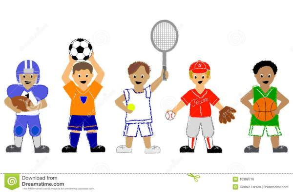 Boy Playing Sports Clip Art