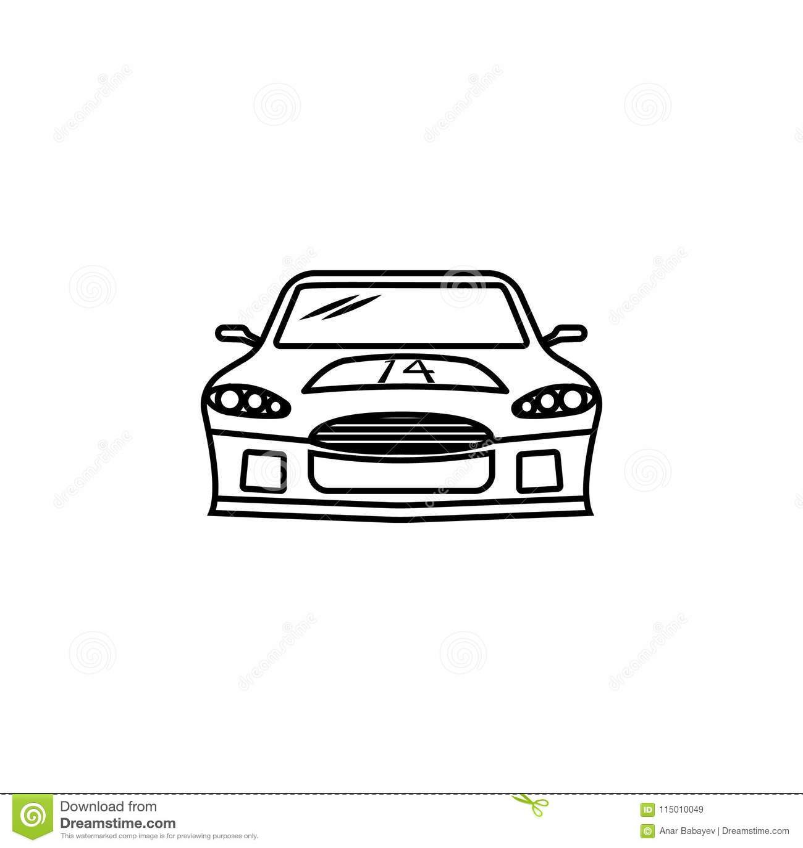 Website Design With Classic Retro Car Cartoon Vector