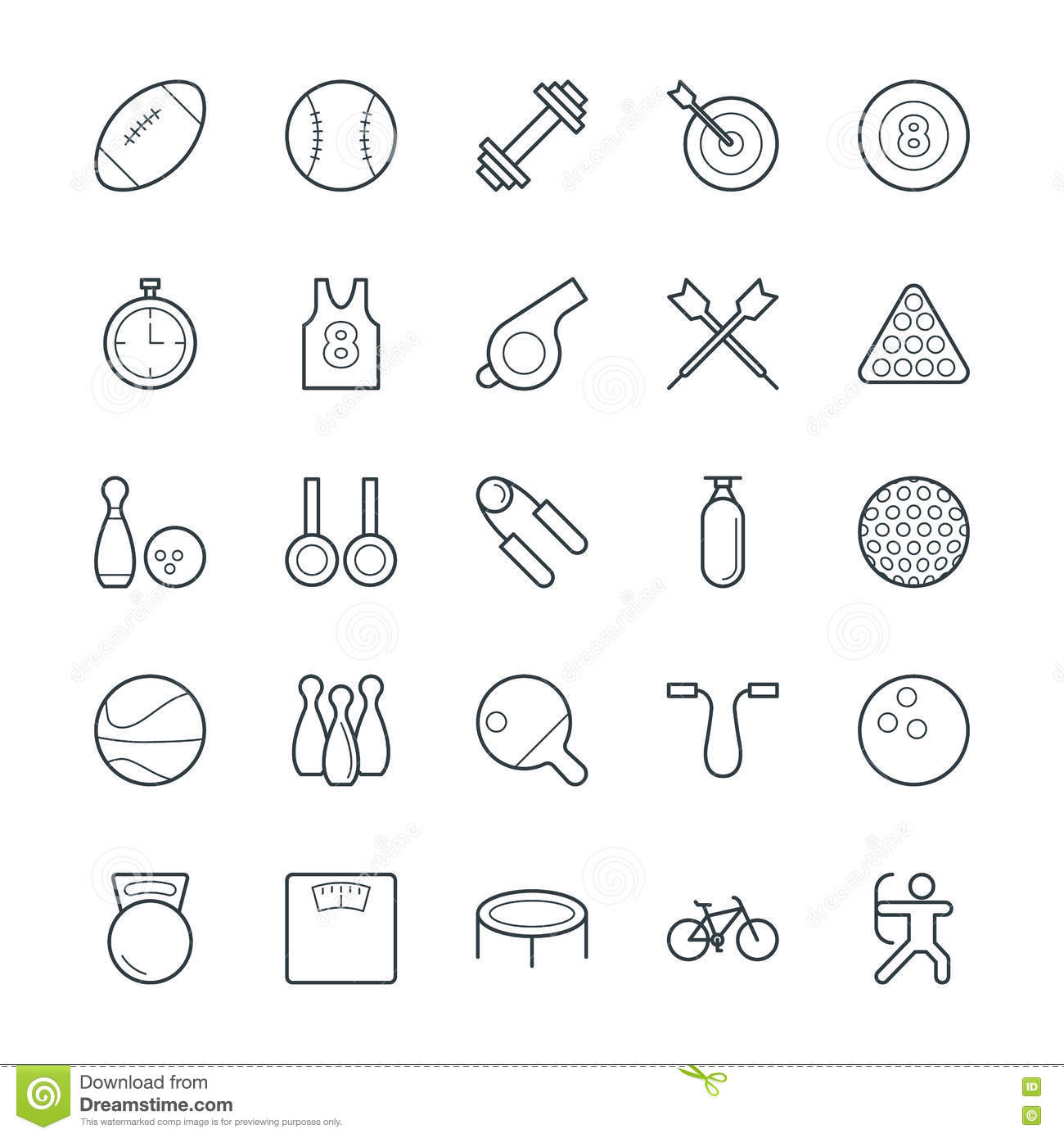 Sports Cool Vector Icons 1 stock illustration