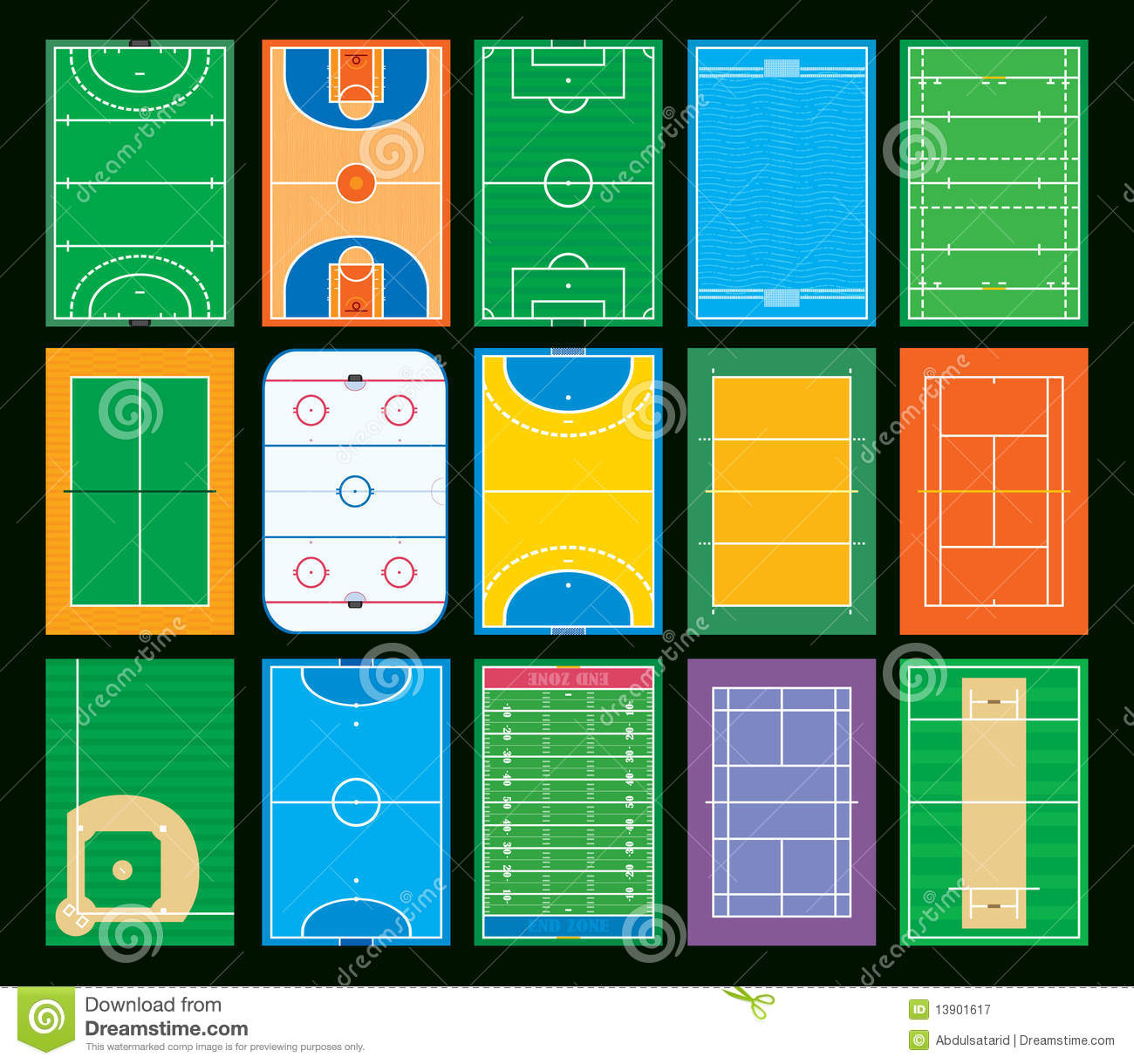 Sports Courts And Fields Royalty Free Stock Photography